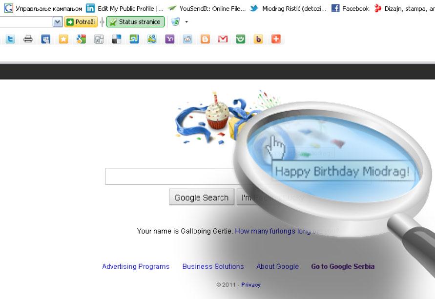 kad google čestita...